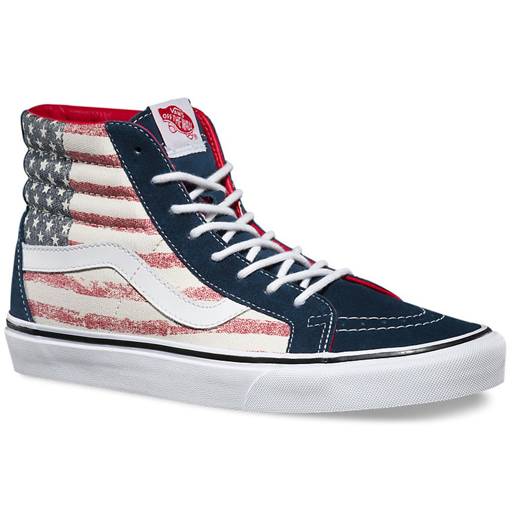 f23f406ec5 Vans SK8-HI Reissue Americana Youth Shoes - Dress Blue - 3.5