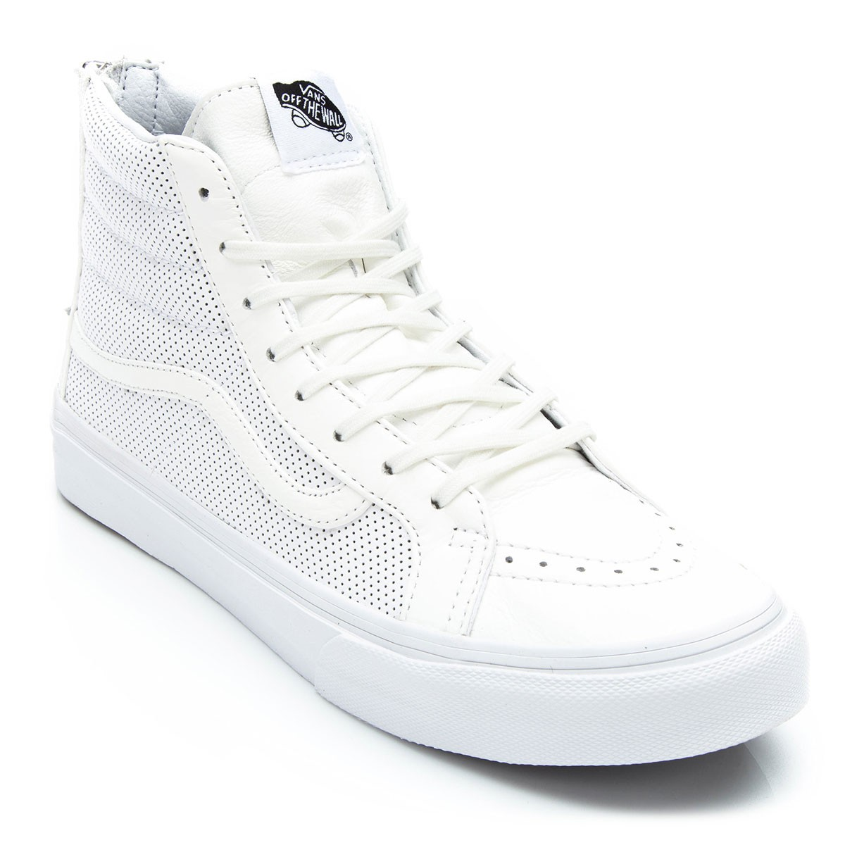 vans perforated leather sk8-hi slim zip shoe