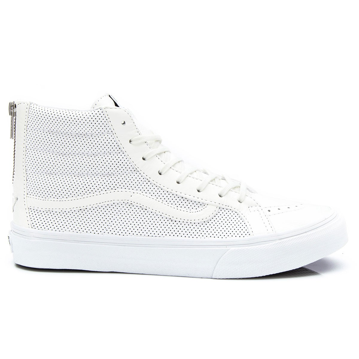Vans SK8 HI Slim Zip Perforated Leather Shoes