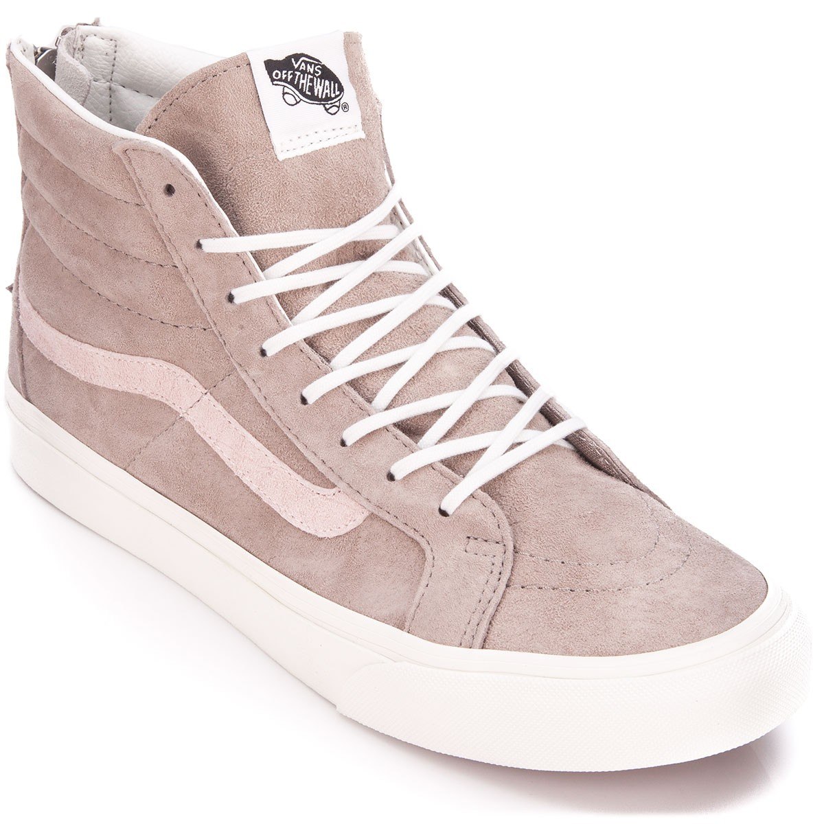 Original Product -  Vans Croc Emboss SK8-Hi Slim Zip Womens Shoes Hemp/Blanc De Blanc