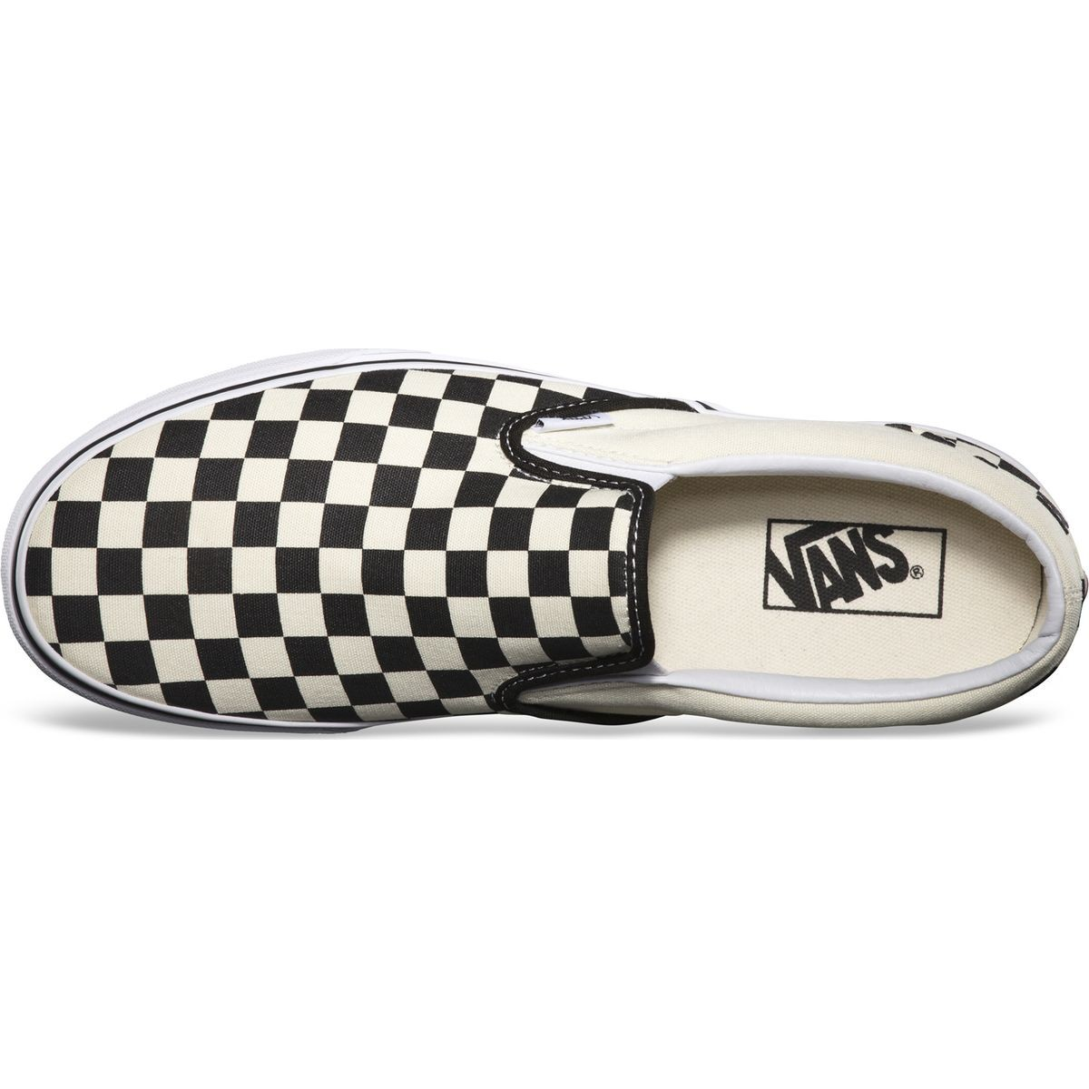 a6d2eaf244c41b Vans Classic Slip-On Checkerboard Youth Shoes - Black White - 5.0