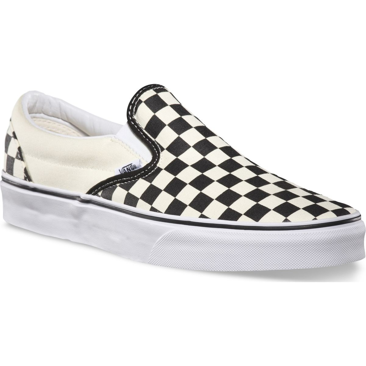 b6cd092725f Vans Classic Slip-On Checkerboard Shoes - Black White - 8.0