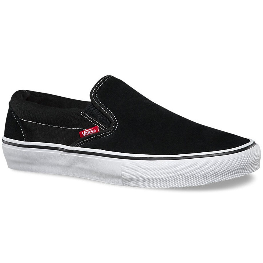 7ad70d962b3 Vans Slip On Pro Shoes - Black White Gum - 8.0