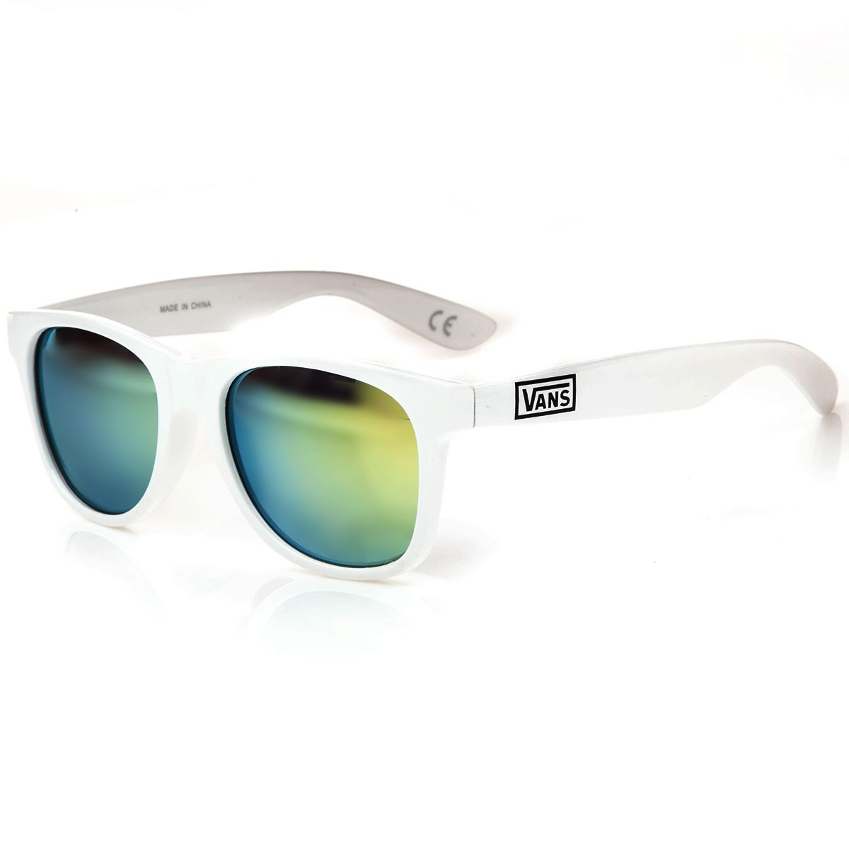 Vans Spicoli 4 Sunglasses - White Mirror Green