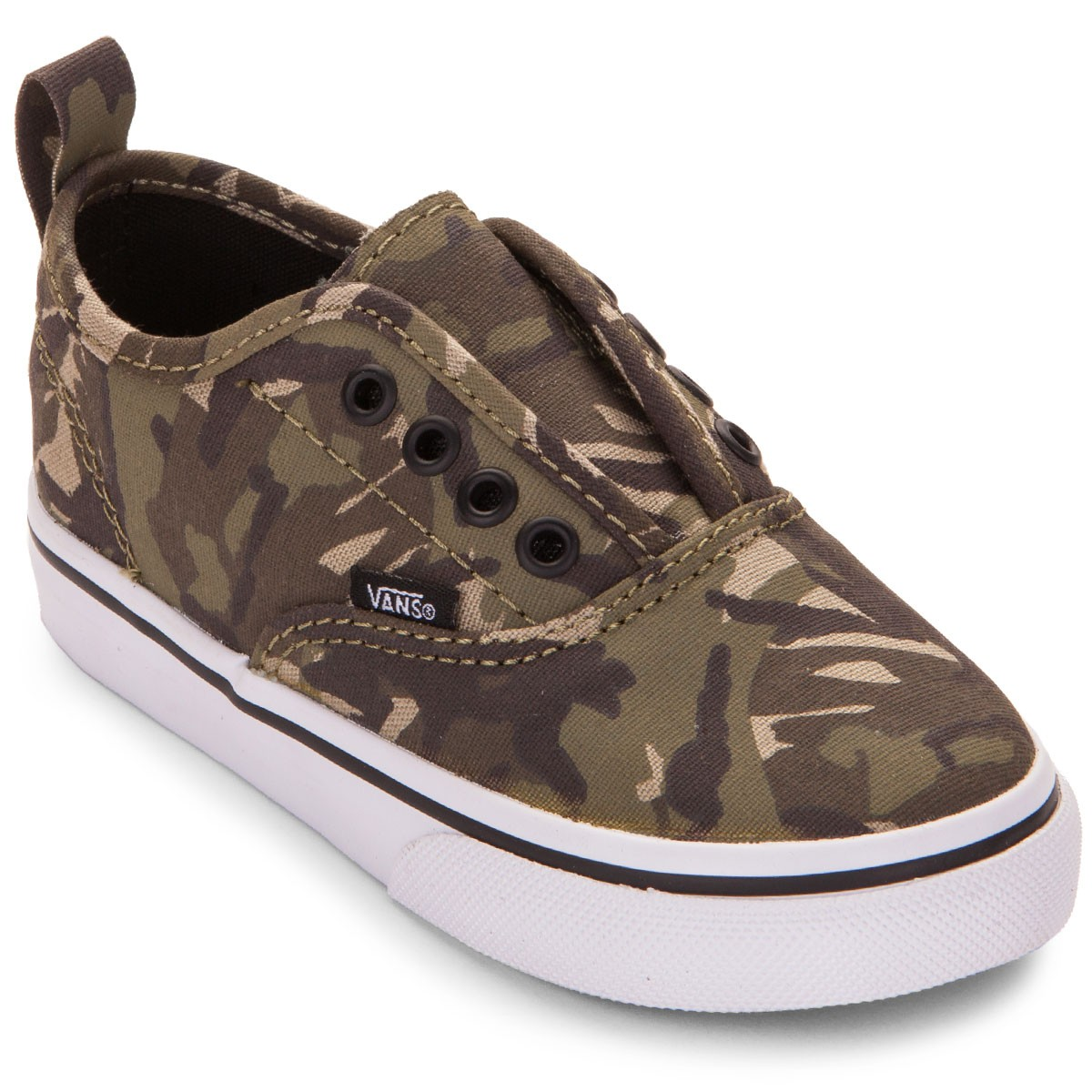 ebddfa50bc Vans Authentic Toddler Little Kid Shoes - Camo Olive True White - 4.0