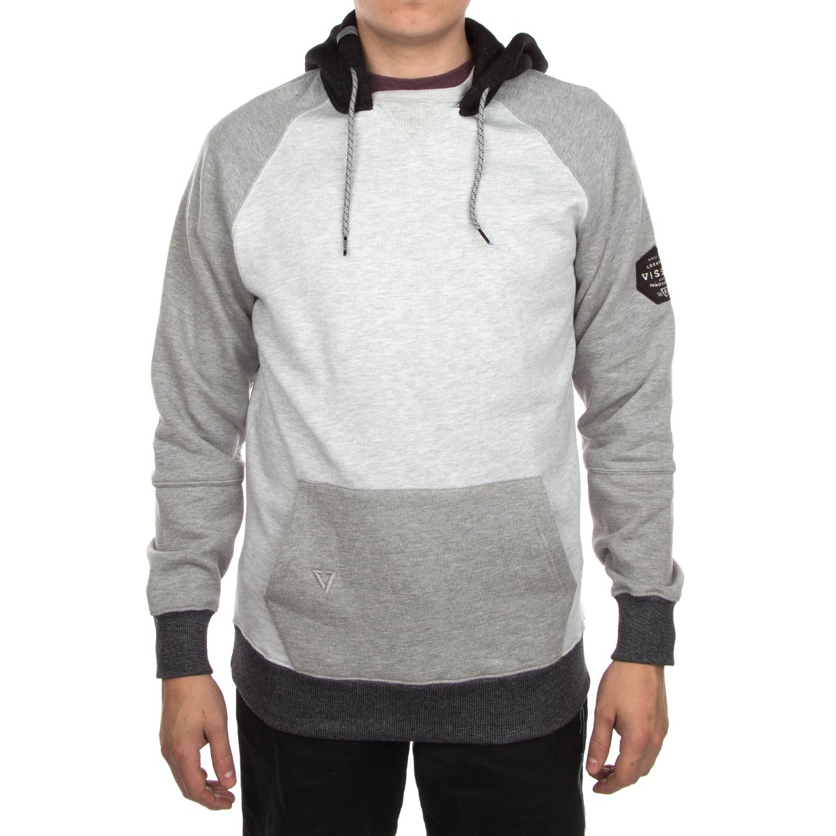 Vissla County Line Crew Hoodie - Light Grey Heather