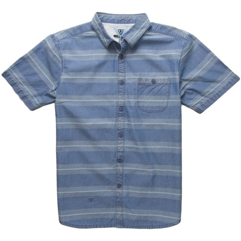 Vissla Vic Sander Short Sleeve Woven Shirt - Light Blue