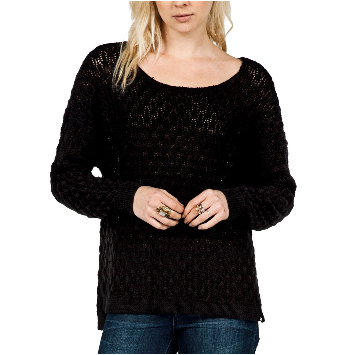 For Love Womens Sweater - Black
