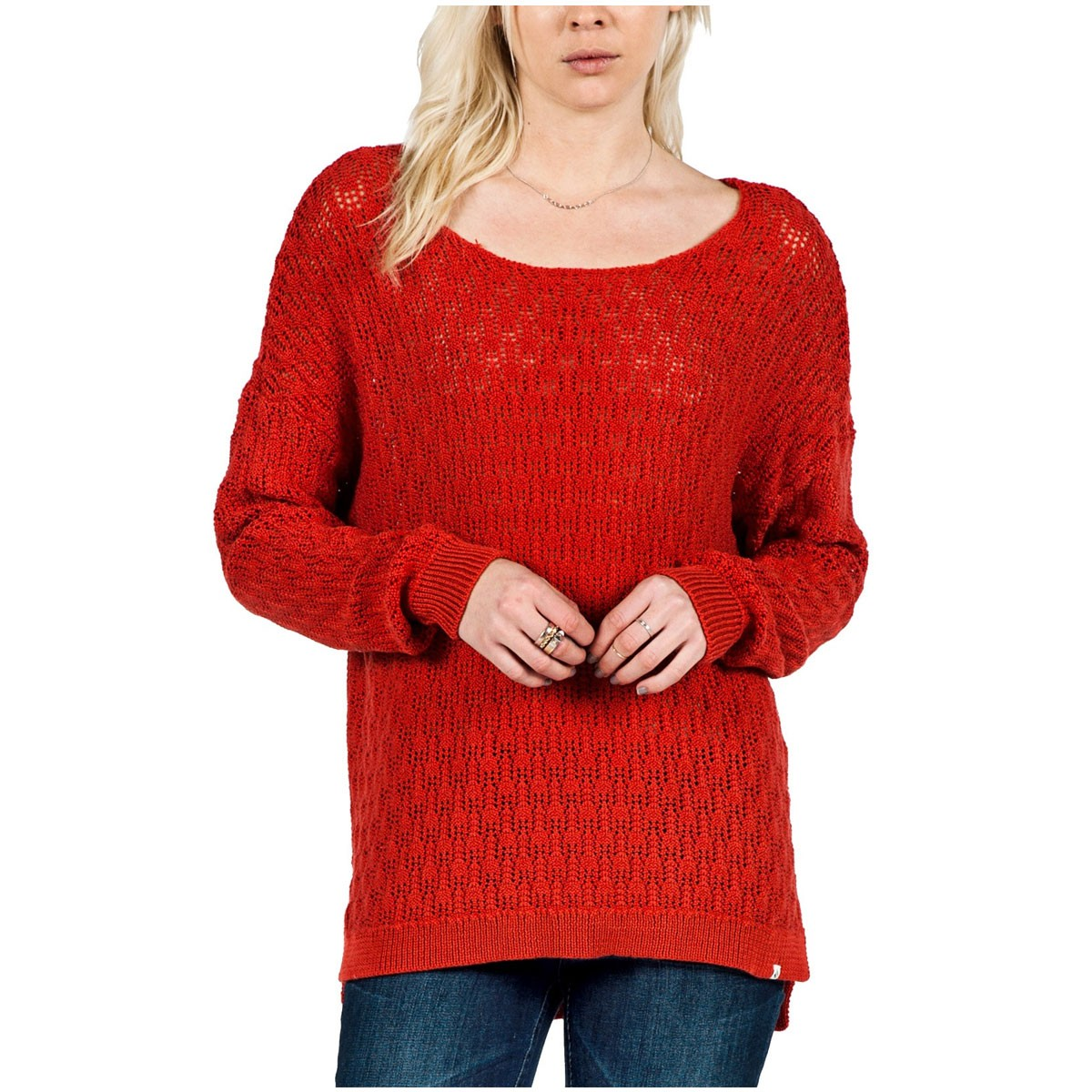 For Love Womens Sweater - Blood Red