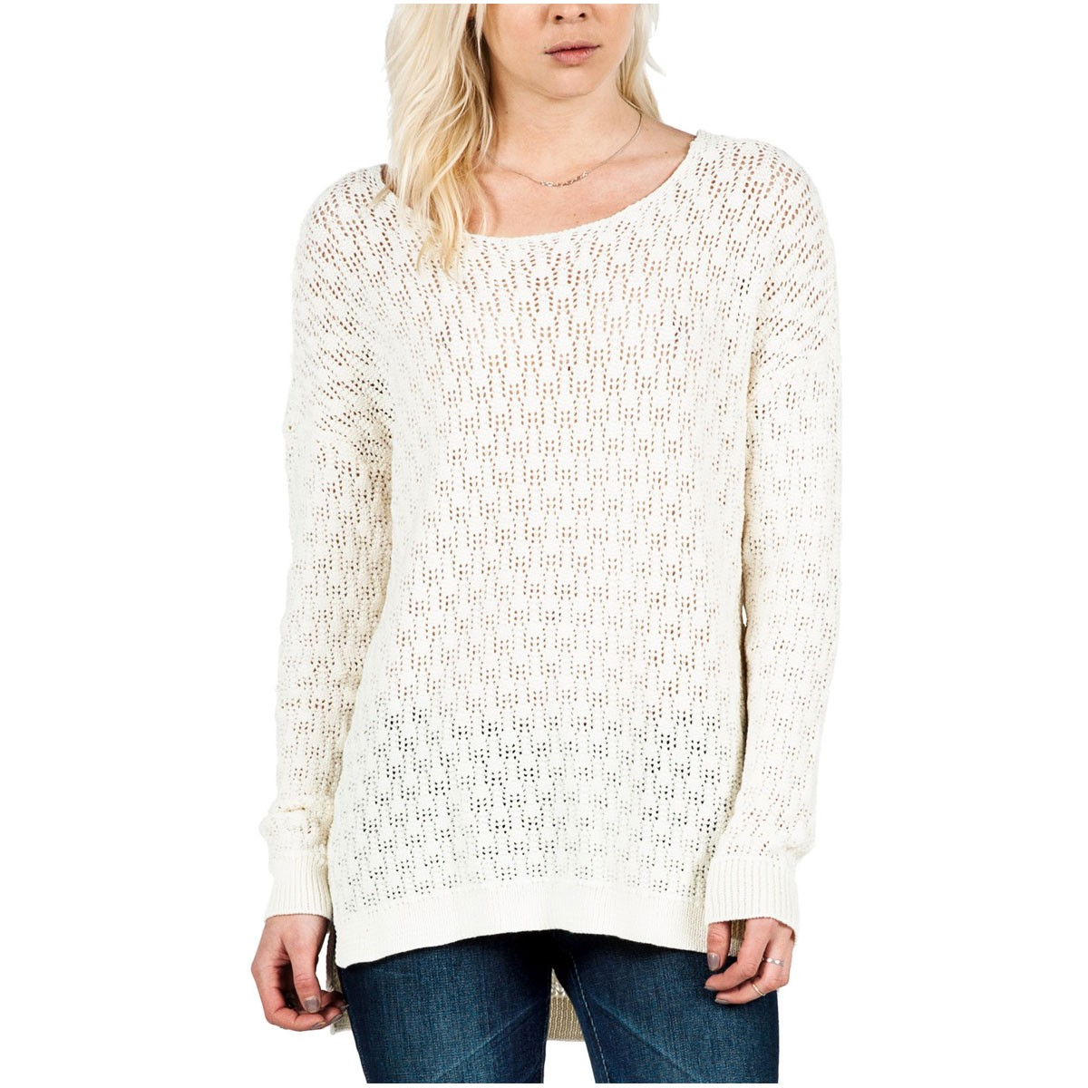 Volcom For Love Womens Sweater - Frozen Bone