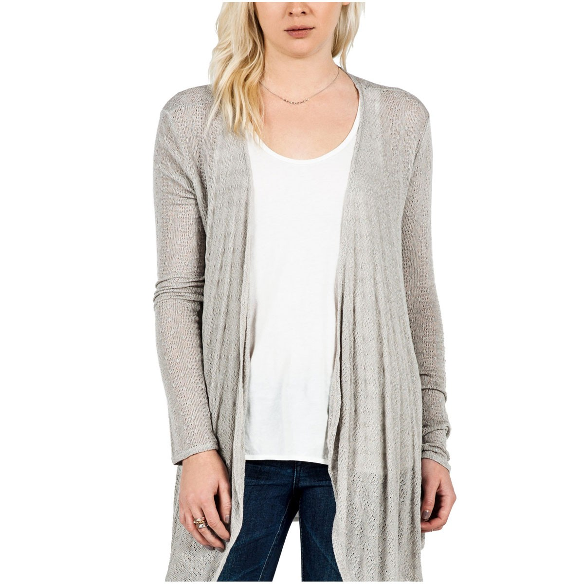 Free To Go Womens Wrap Sweater - Moonbeam