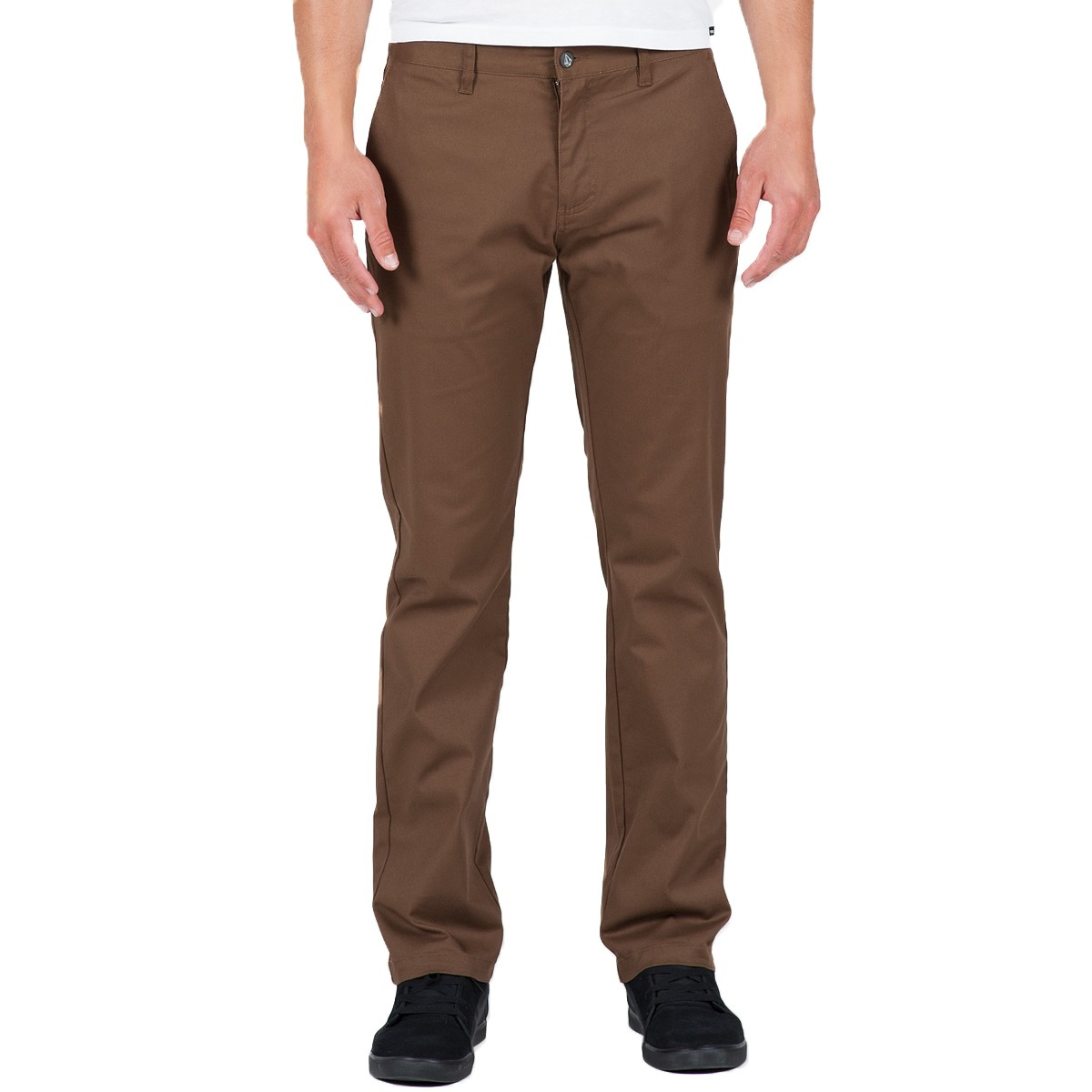 Volcom Frickin Modern Stretch Chino Pants - Brown