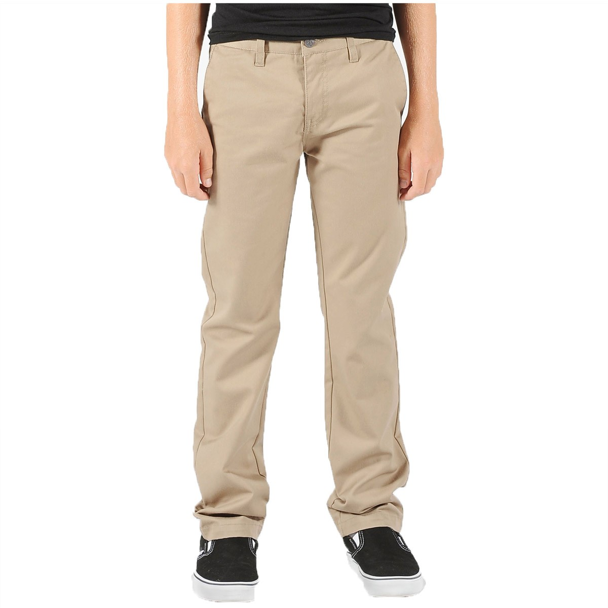 Volcom Frickin Modern Stretch Youth Pants - Khaki