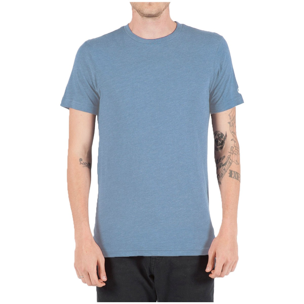 Volcom heather short sleeve t shirt sun faded indigo heather for Faded color t shirts