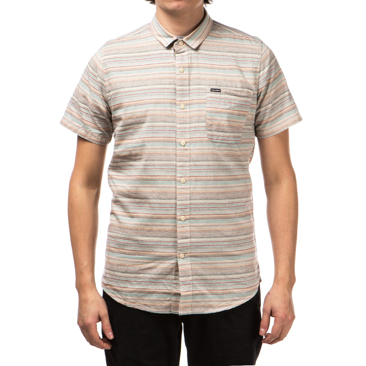 Volcom Lenfield Short Sleeve Shirt - Melon