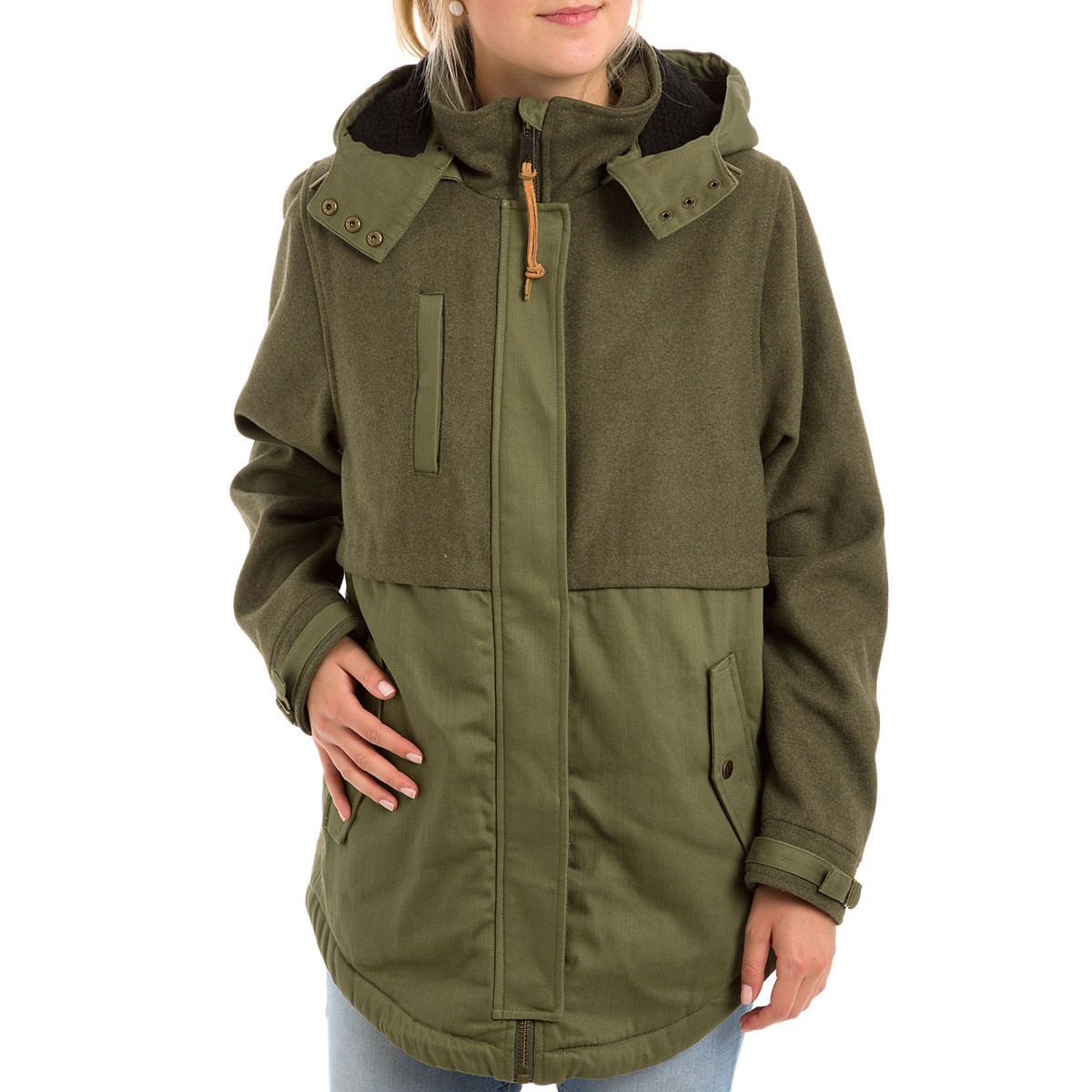 Unique Volcom Mitch Women's Parka - Army SE05