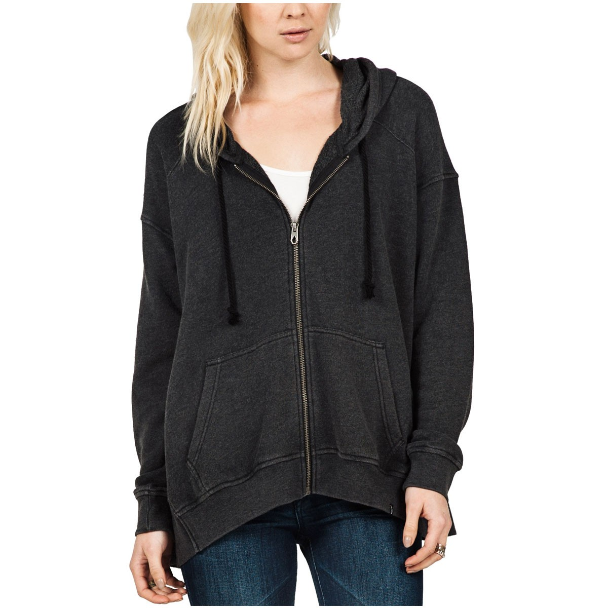 Volcom Moon Phase Womens Fleece Hoodie - Black