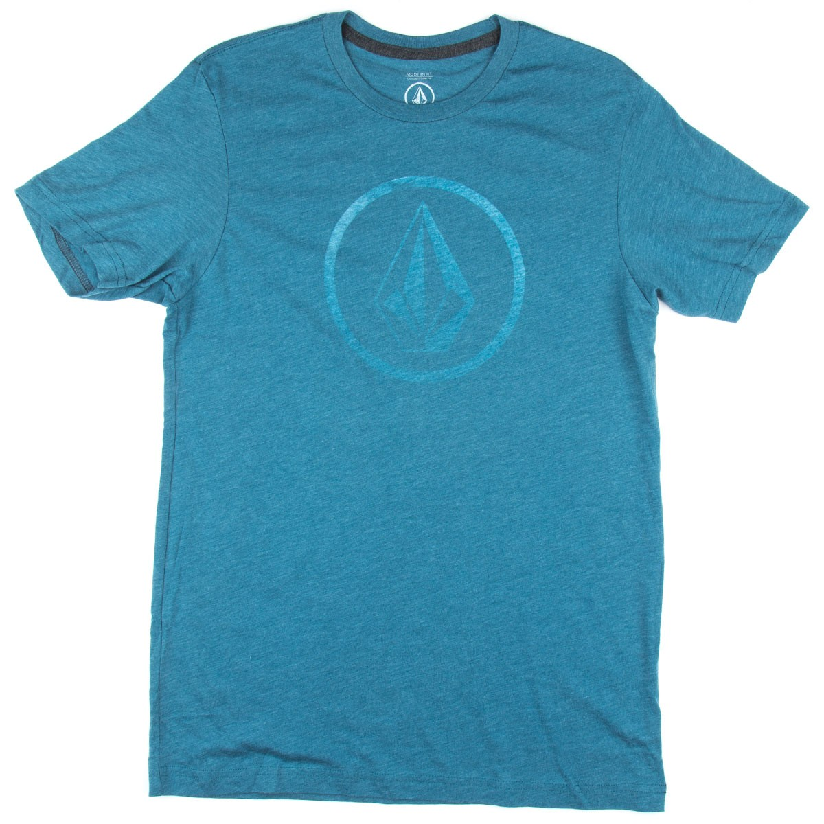 Volcom new circle t shirt sun faded indigo for Faded color t shirts