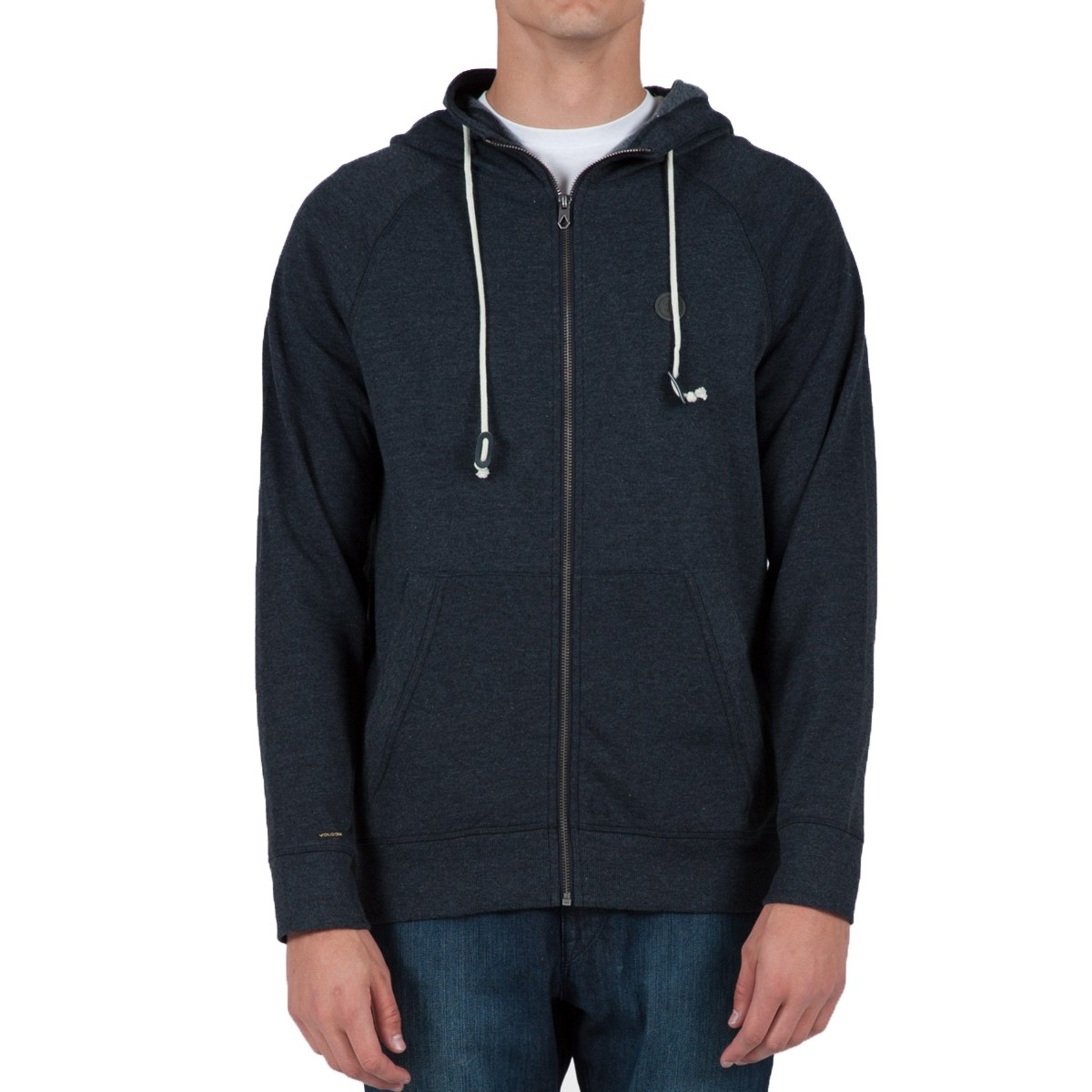 The Core Basics Zip Hoodie is a 60% cotton, 40% polyester fleece hoodie with a full zip, front pockets, and left chest logo embroidery. Model is 6 feet tall and wearing a size Medium.4/4(13).