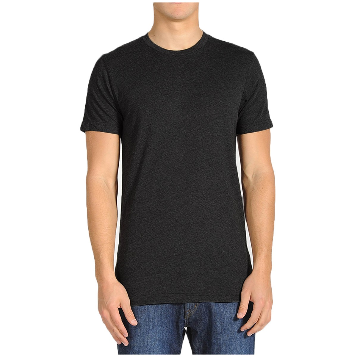 Volcom solid short sleeve t shirt black for Black and white short sleeve shirts