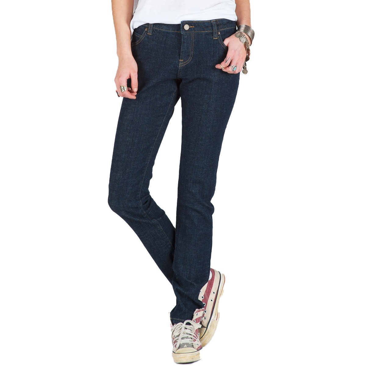 Volcom Super Stoned Skinny Jeans - Rinse