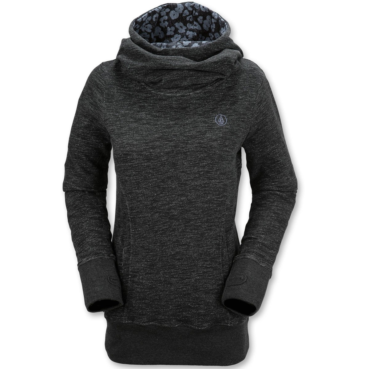 Tower Womens Pullover Fleece Hoodie - Black