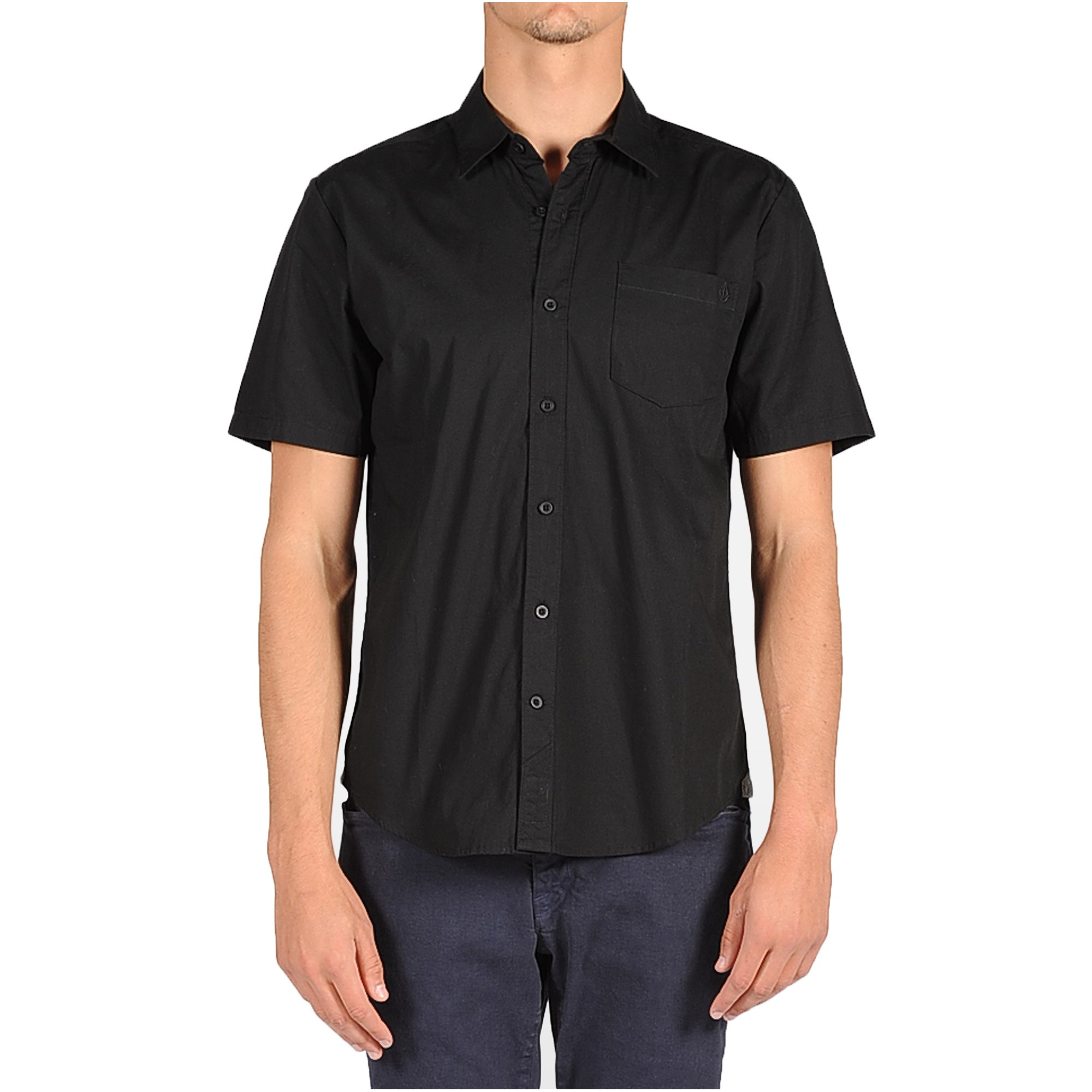 Short black shirt is shirt for Mens black short sleeve dress shirt