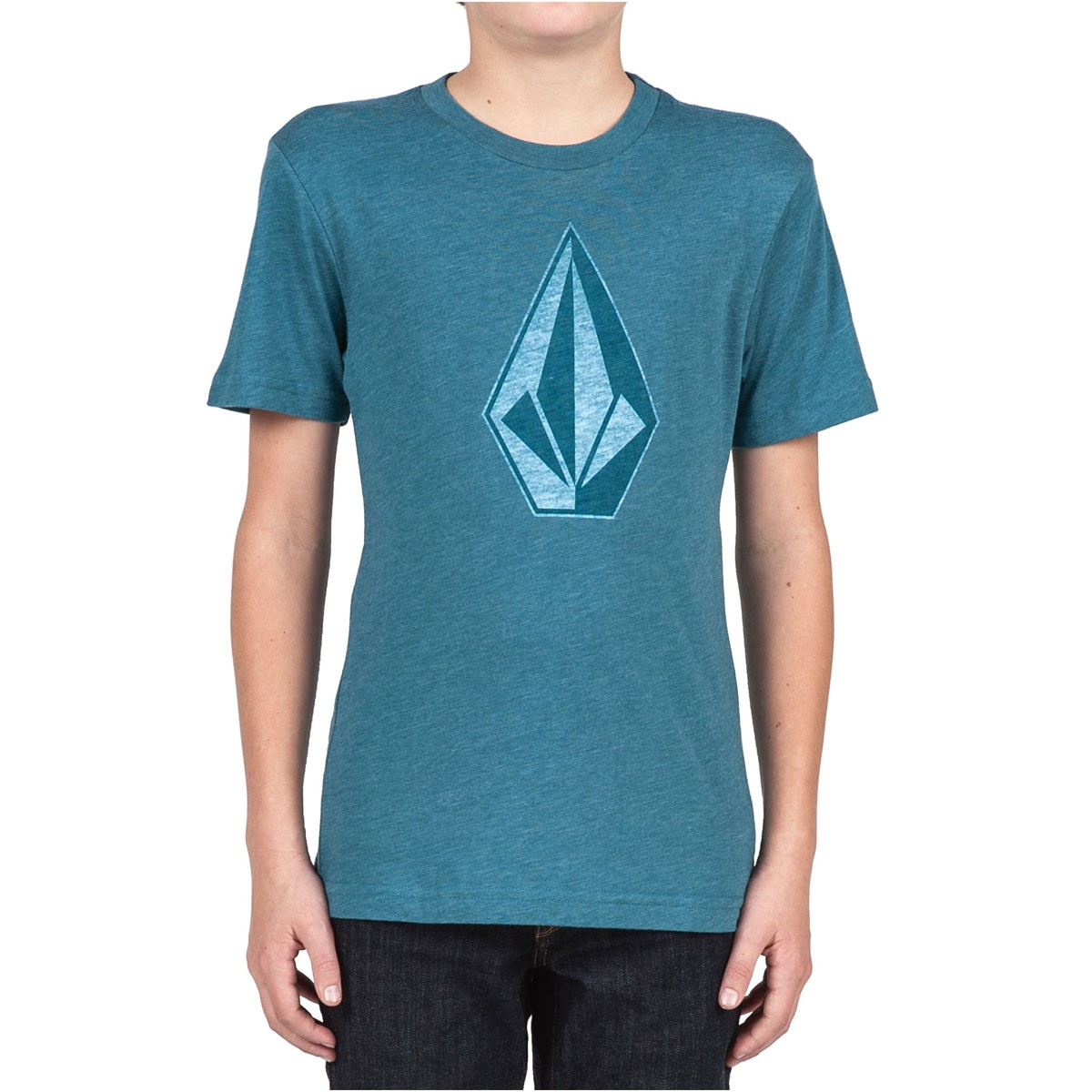 Volcom whenever boys t shirt sun faded indigo for Faded color t shirts