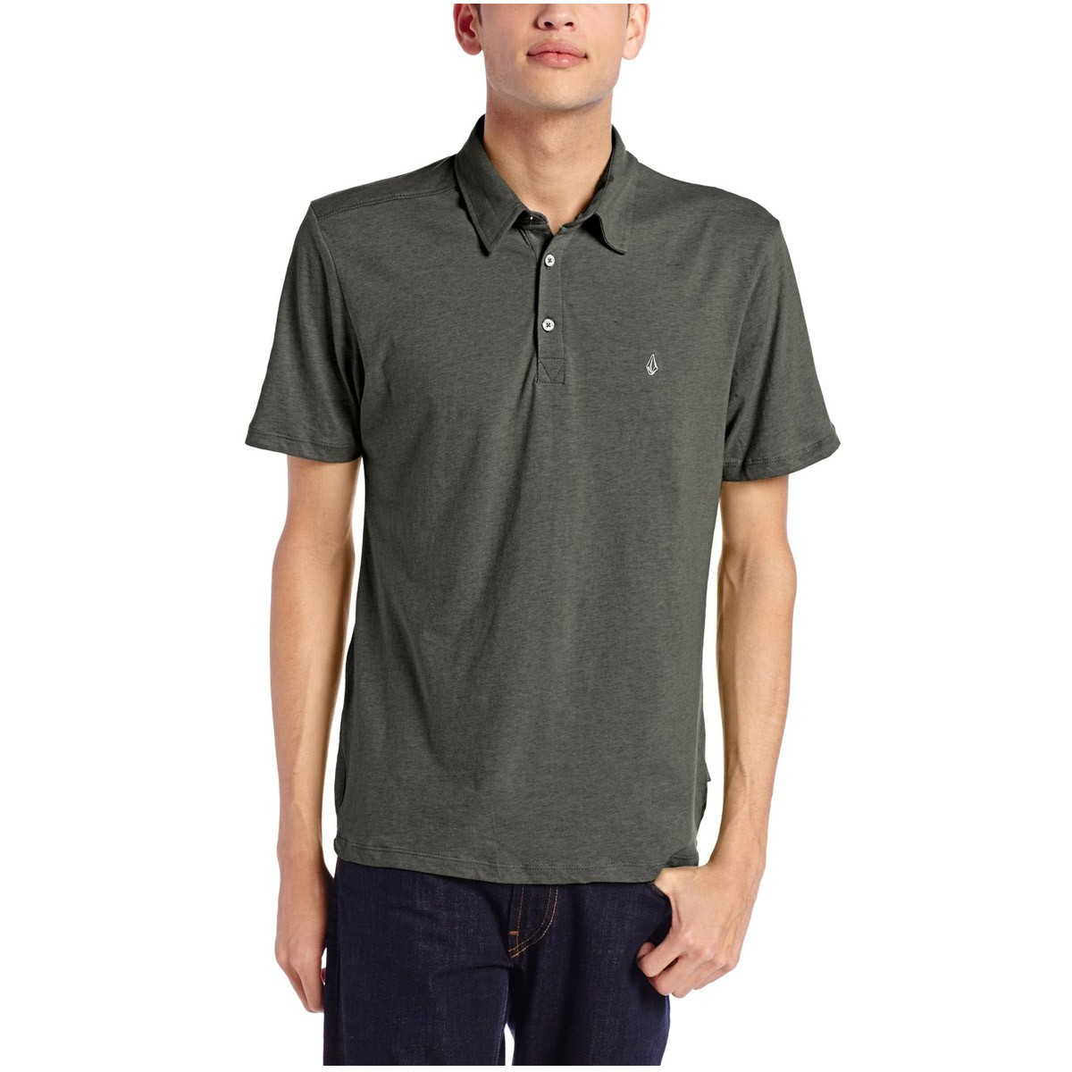 Volcom Wowzer Polo Shirt Dark Grey