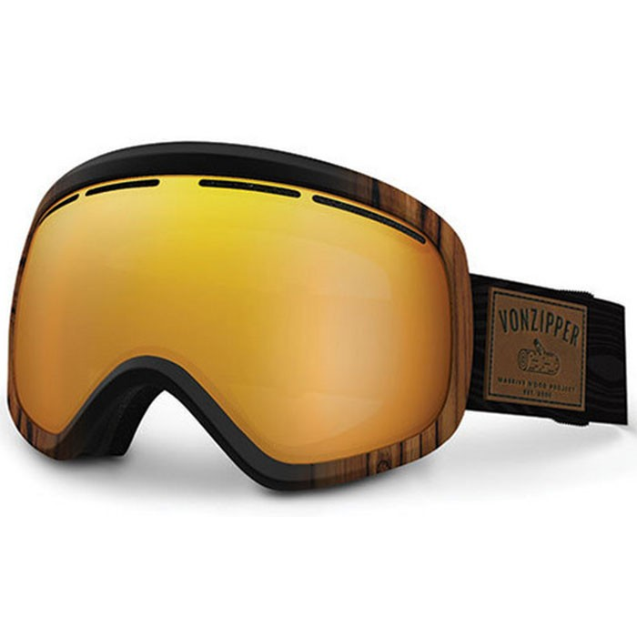 Von Zipper Skylab Snowboard Goggles - Massive Wood Project/Copper Chrome