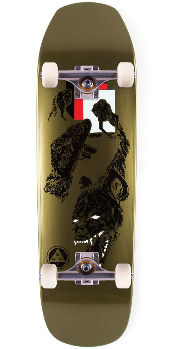 """Welcome Face of a Lover on Banshee Skateboard Complete - Gold Dip - 9.00"""""""