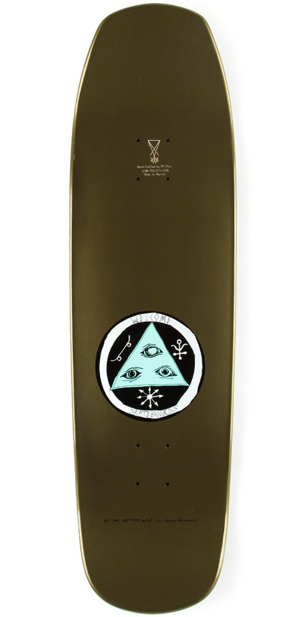 Welcome face of a lover on banshee skateboard deck gold dip 9 00 quot