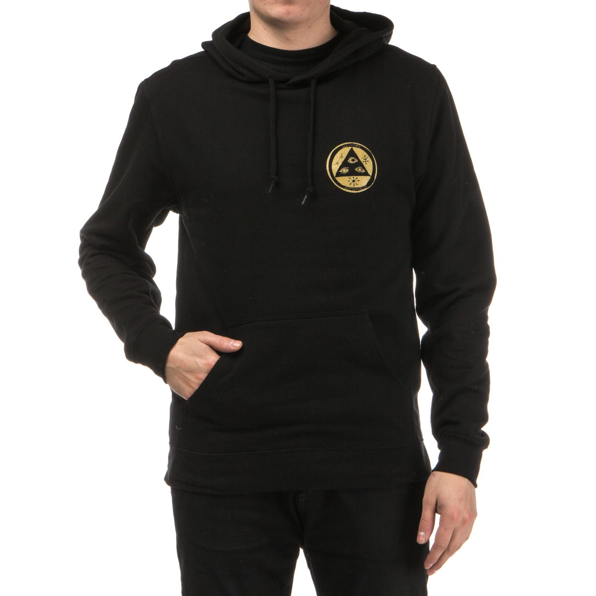Golden Goat Lightweight Pullover Hoodie - Black/Gold