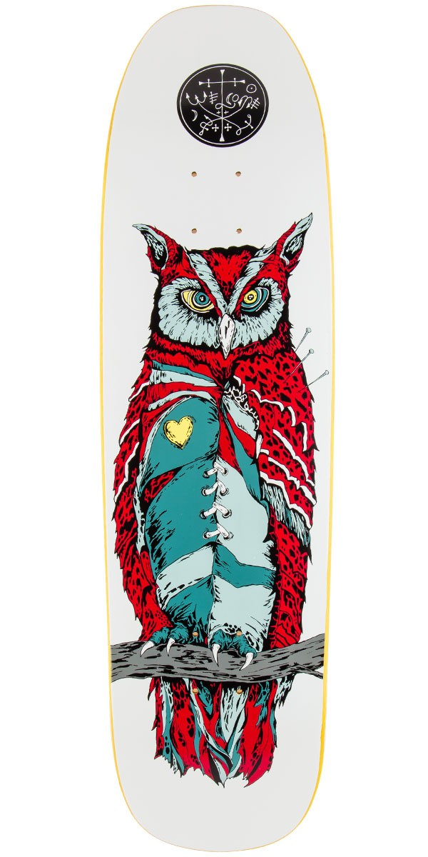 "Welcome Heartwise On Nimbus 5000 Skateboard Deck - 8.75"" - White/Red"