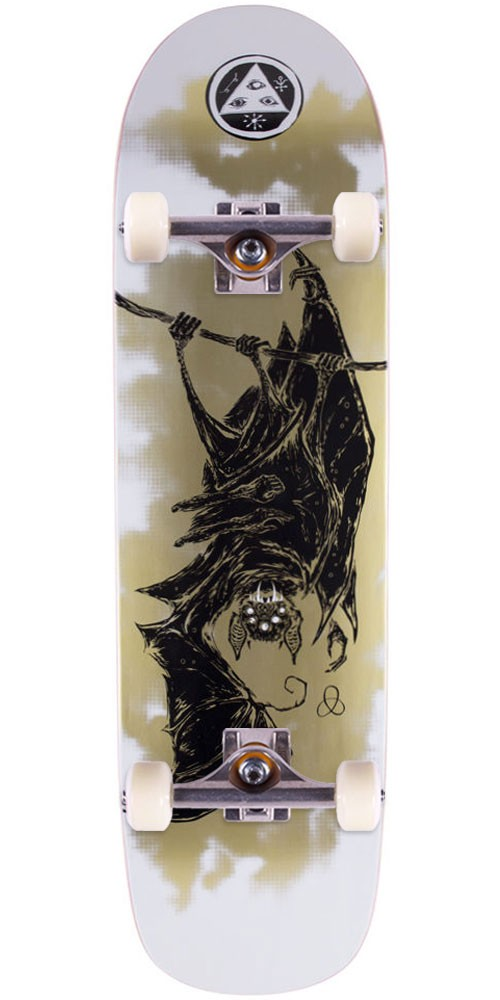 Welcome Infinitely Batty on Son of Planchette Skateboard Complete - White/Gold - 8.38""