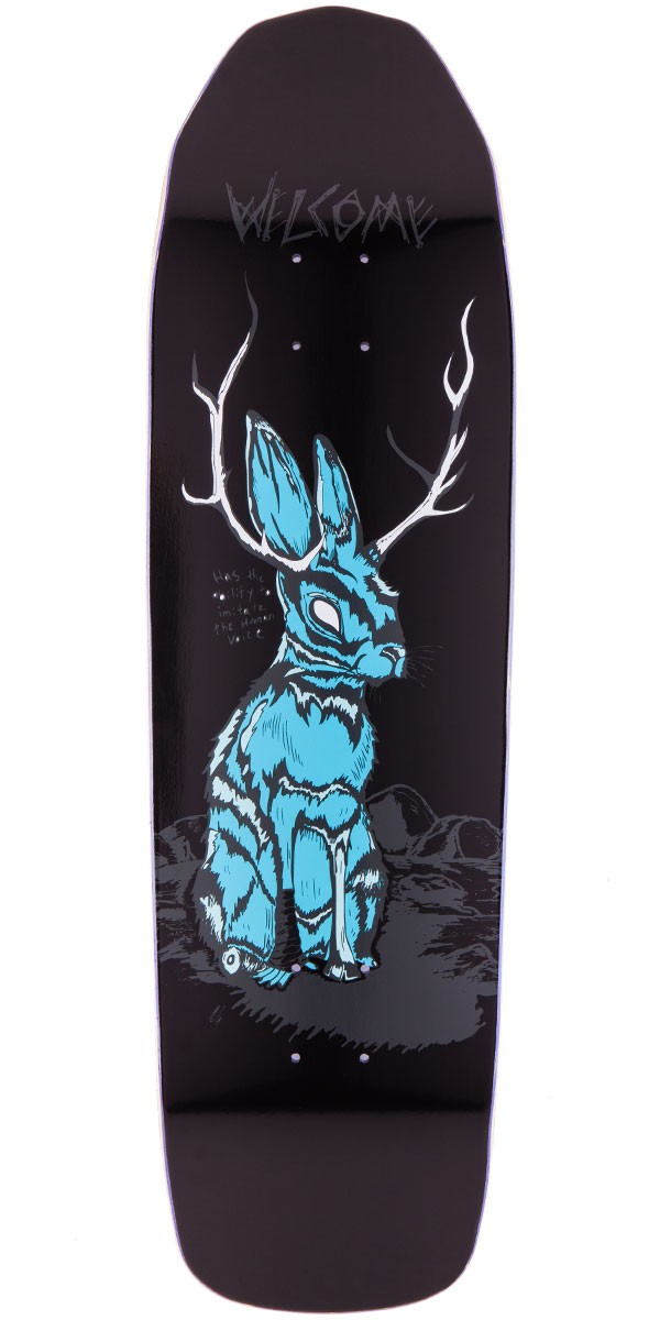 Welcome Jackalope On Basilisk Skateboard Deck - Black - 8.80""
