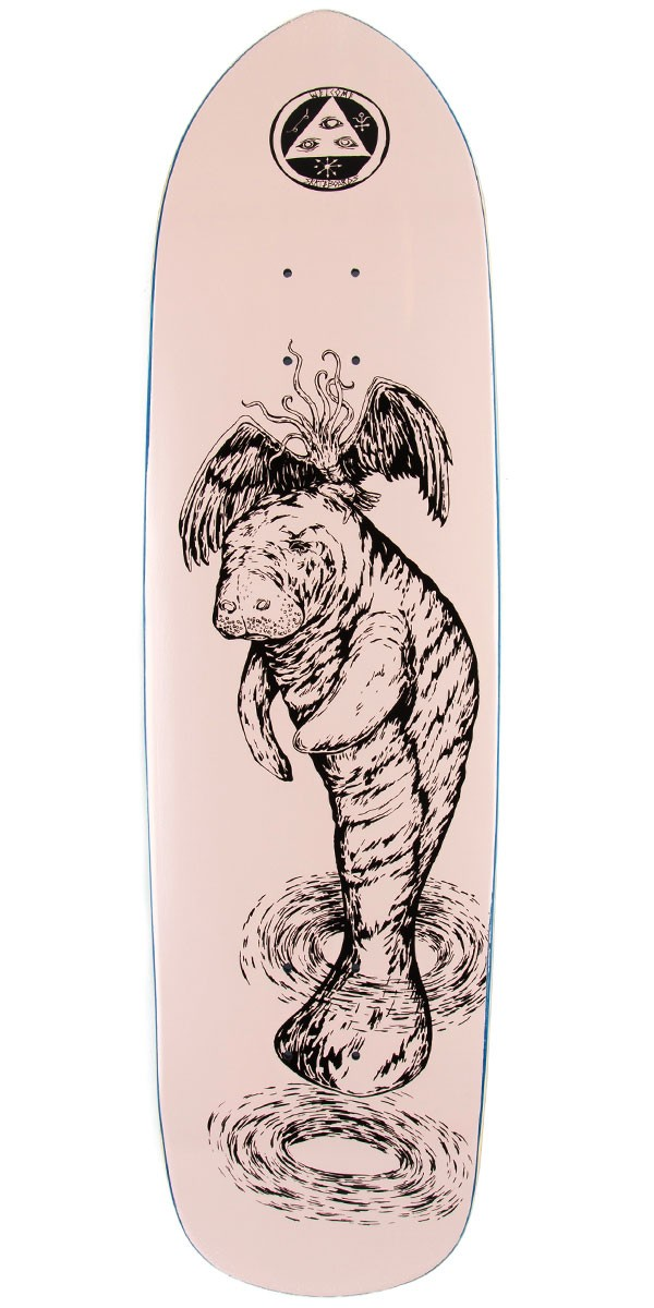 Welcome Mermaid on Squidbeak Skateboard Deck - Pink - 8.60""