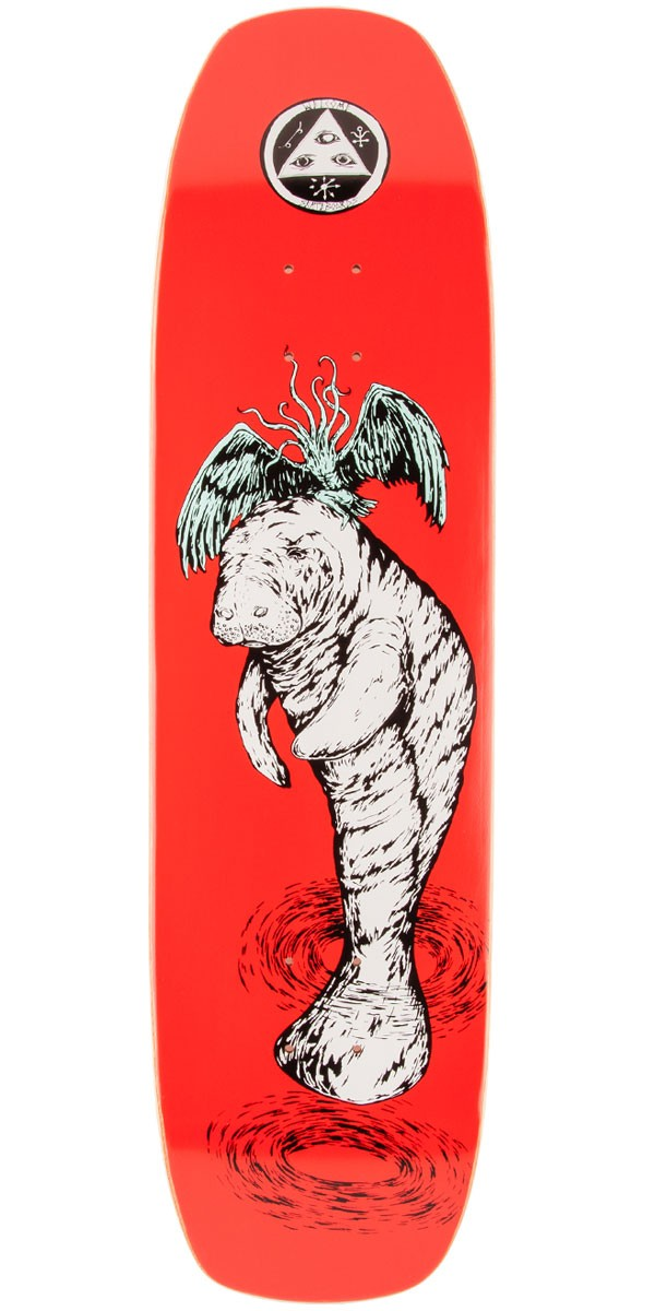 Welcome Mermaid on Wormtail Skateboard Deck - 8.4""