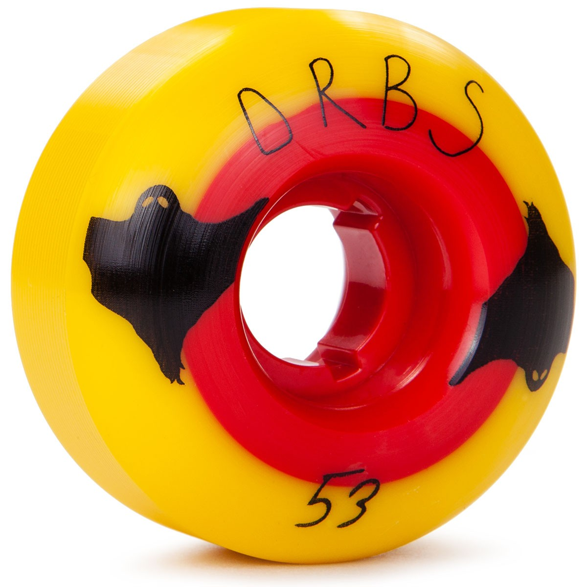 Welcome Orbs Poltergiest Skateboard Wheels - Yellow / Red - 53mm - 84B