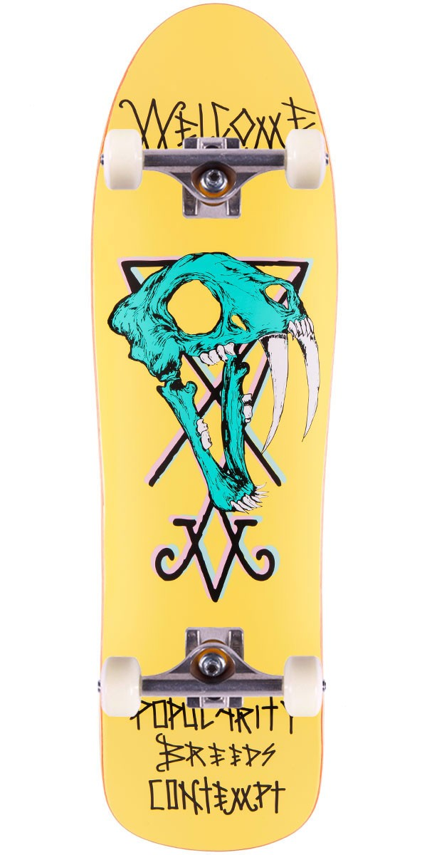 Welcome Saberskull On Mandrake Skateboard Complete - Yellow - 9.25""