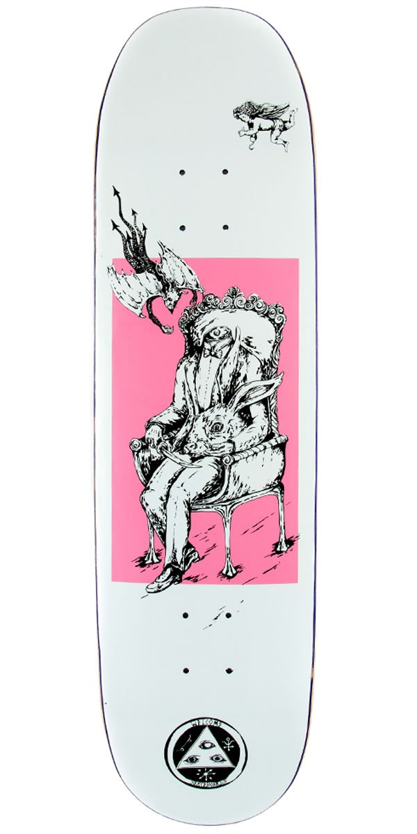 Welcome Self Portrait on Moontrimmer 2.0 Skateboard Deck - White/Pink - 8.50""