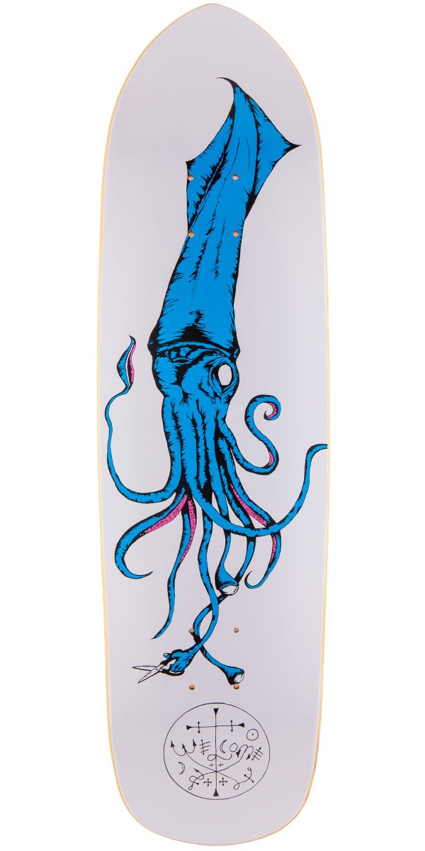 Welcome squid on squidbeak skateboard deck 8 6 white blue