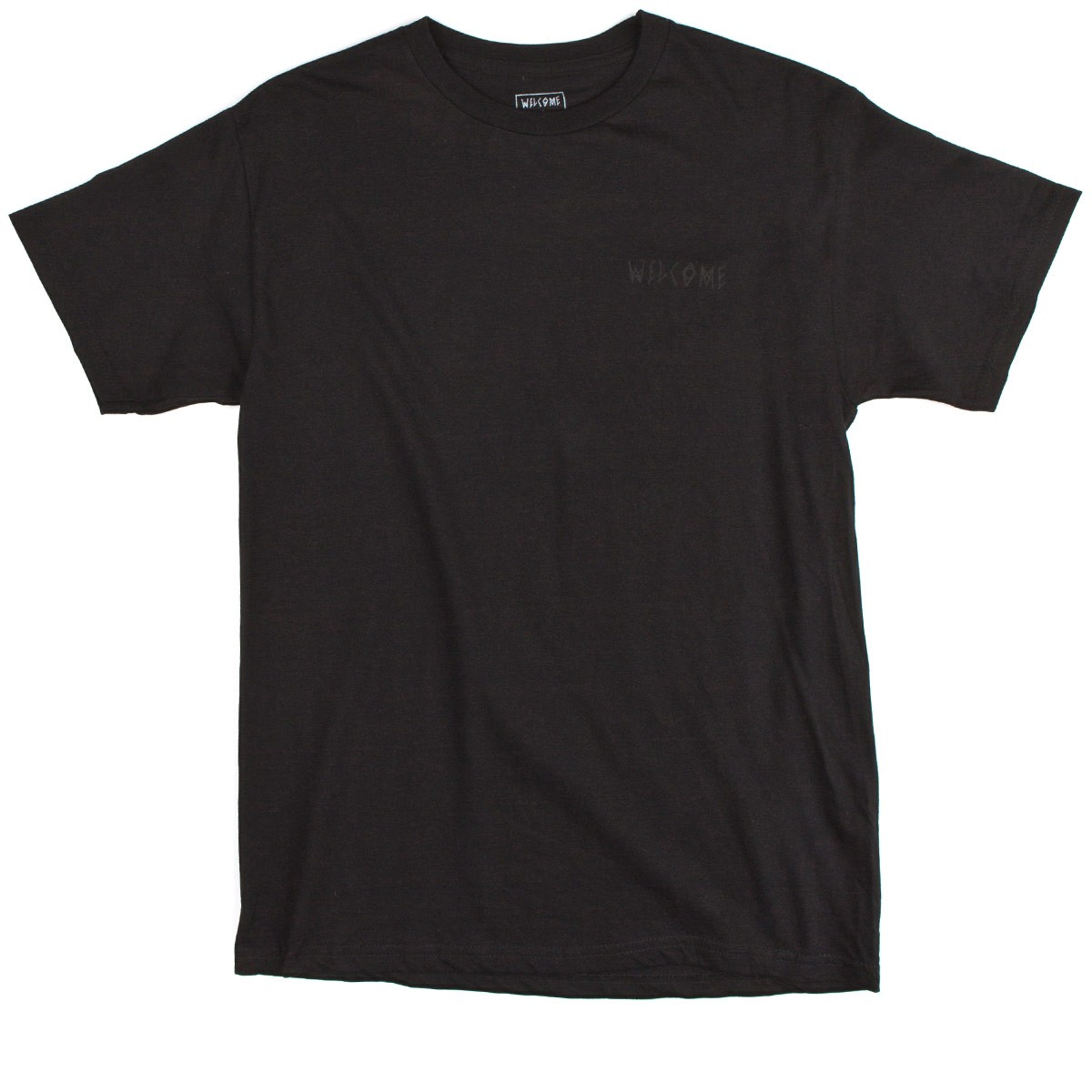 Welcome Symbol T-Shirt - Black/Black