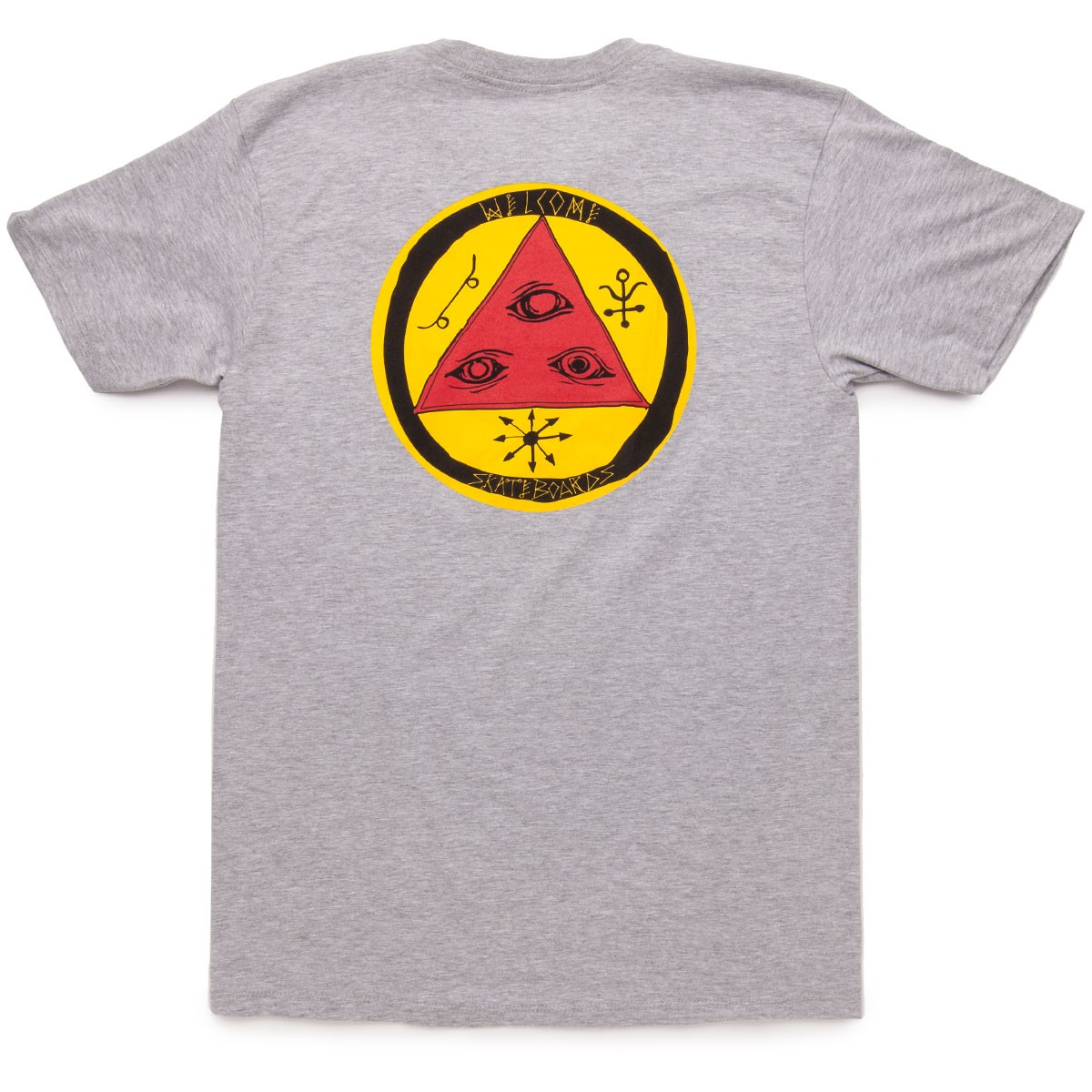 Welcome Talisman Tri-Color T-Shirt - Heather/Red/Yellow