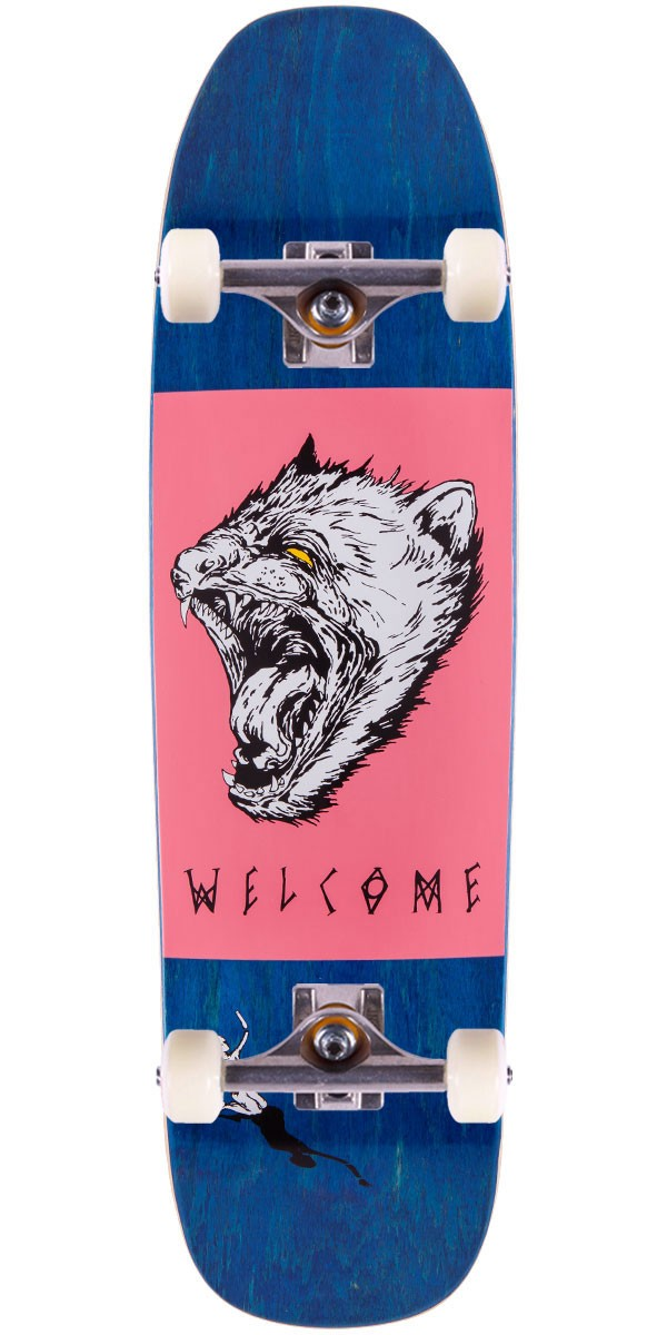 "Welcome Tasmanian Angel On Nimbus 5000 Skateboard Complete - 8.75"" - Blue Stain"