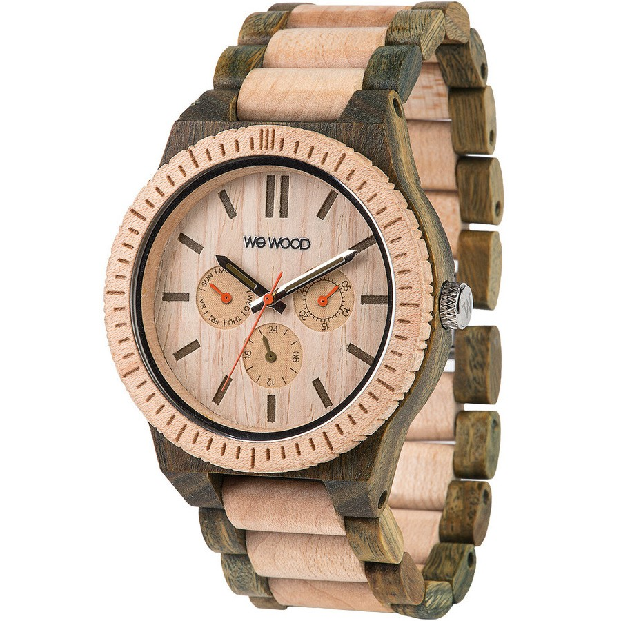 WeWood Kappa Watch - Beige/Army
