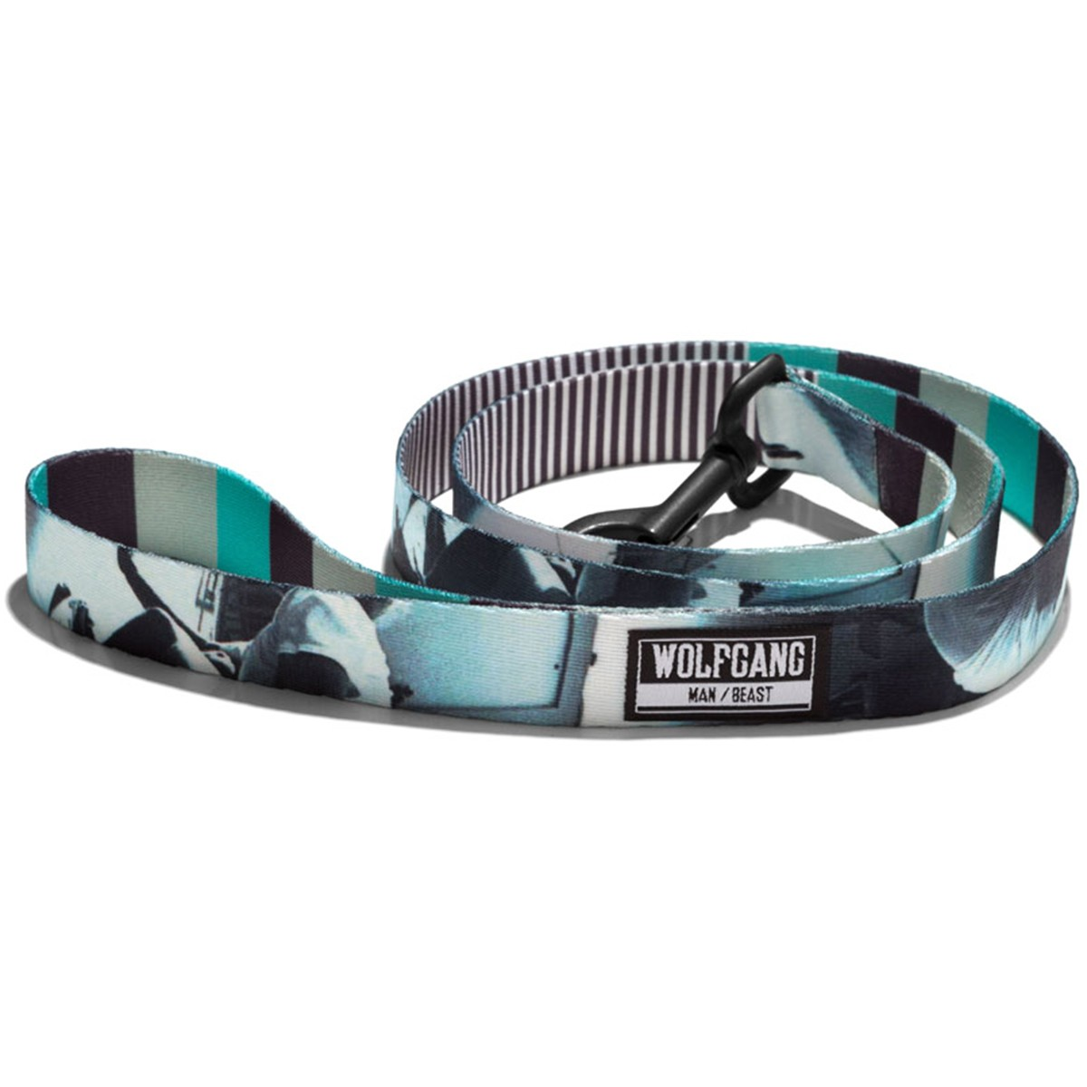 Wolfgang Skate86 Dog Leash  - Photo/Blue - 1in x 6ft