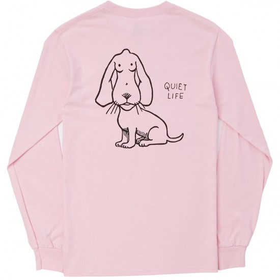 The Quiet Life Boob Dog Long Sleeve T-Shirt - Pink