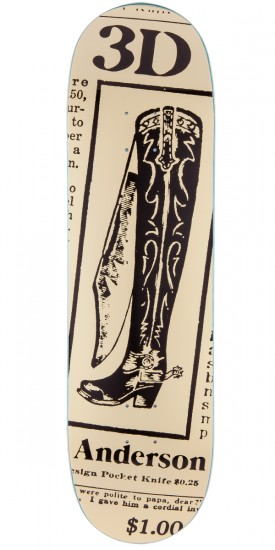 3D Brian Anderson Boot Knife Skateboard Deck - 8.625""