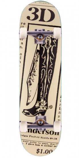 3D Brian Anderson Boot Knife Skateboard Complete - 8.625""
